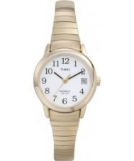 Timex T2H351 Las señoras reloj de oro blanco fácil lector