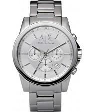 Armani Exchange AX2058 reloj del vestido del cronógrafo de acero de plata de los hombres