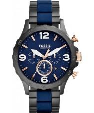 Fossil JR1494 Mens nate cronógrafo ip negro reloj de la marina de guerra