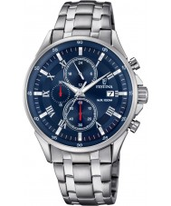Festina F6853-3 Para hombre reloj cronógrafo de plata