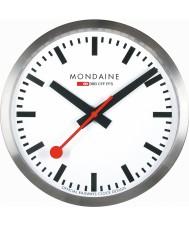 Mondaine A990-CLOCK-16SBB reloj de pared de metal de plata