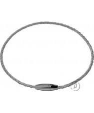Police 23875PLGR-01 Flujo IP negro y gris gargantilla de cuero cable.