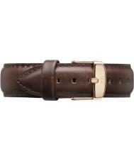 Daniel Wellington DW00200009 Mens clásico Bristol 40mm rosa correa de cuero marrón de oro repuesto