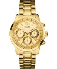 Guess W0330L1 Las señoras de sol de oro plateado reloj pulsera