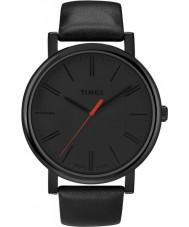 Timex T2N794 Mens negro reloj redondo clásico