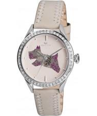 Radley RY2083 reloj de la correa de cuero genuino de las señoras crema con piedras
