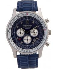 Krug-Baumen 600507DS reloj de diamantes viajero aéreo para hombre