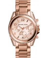 Michael Kors MK5263 Damas Blair subió reloj cronógrafo de oro