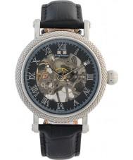 Krug-Baumen 60111DM el prestigio de cuero para hombre negro reloj de la correa