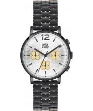 Orla Kiely OK4002 Frankie damas reloj cronógrafo negro ip