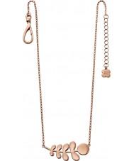 Orla Kiely N4014 18 quilates damas compañero de rosa collar de oro patrón madre