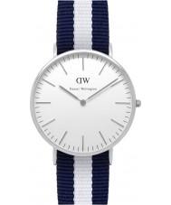 Daniel Wellington DW00100018 Para hombre reloj de plata de 40 mm Glasgow clásica