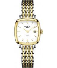 Rotary LB05306-01 Relojes de Windsor dos de oro tono de reloj plateado