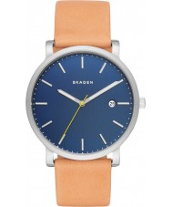 Skagen SKW6279 reloj de la correa de cuero de color marrón claro para hombre Hagen