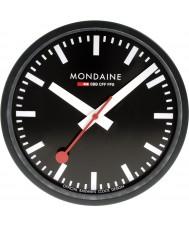 Mondaine A990-CLOCK-64SBB reloj de pared de metal negro