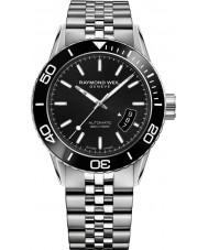 Raymond Weil 2760-ST1-20001 reloj de pulsera de acero de plata para hombre del buceador profesional independiente
