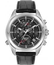 Bulova 96B259 reloj cronógrafo correa de cuero negro para hombre Precisionist