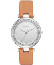 Skagen SKW2455 reloj de la correa de cuero marrón de las señoras de la luz Tanja
