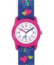 Timex T89001 Los niños mariposas corazones tejido elástico reloj de la correa