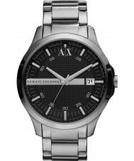 Armani Exchange AX2103 reloj de pulsera de plata vestido de negro de los hombres