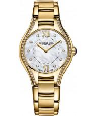 Raymond Weil 5124-PS-00985 Oro de las señoras del reloj plateado diamante noemia