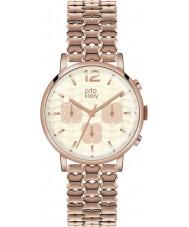 Orla Kiely OK4004 cronógrafo damas Frankie reloj de oro rosa plateado