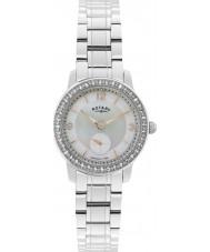 Rotary LB02700-41 Relojes de reloj de acero de plata Cambridge