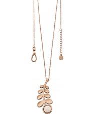 Orla Kiely N4016 Damas compañero de rosa larga línea colgante de collar de vástago de oro