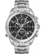 Bulova 96B260 reloj cronógrafo de pulsera de acero de plata para hombre Precisionist