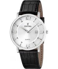Festina F16476-3 reloj de la correa de cuero para hombre