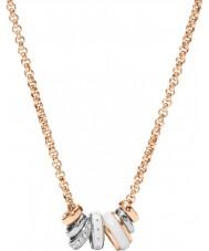 Fossil JF01122998 Señoras clásicos rosa collar de acero de oro