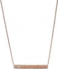 Fossil JF02144791 Las señoras de la vendimia rosa collar de oro barra de brillo