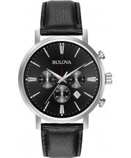 Bulova 96B262 reloj cronógrafo para hombre negro Aerojet plata