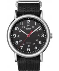 Timex T2N647 Mens todo de fin de semana negro deslizarse a través de reloj