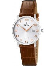 Festina F16477-2 reloj de la correa de cuero marrón de las señoras