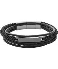 Fossil JF02378793 Para hombre pulsera de capas negro ocasional de la vendimia