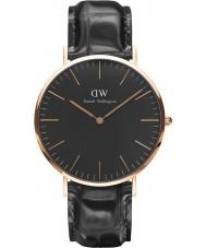 Daniel Wellington DW00100129 reloj de 40 mm de lectura negro clásico