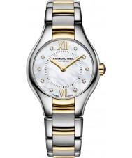 Raymond Weil 5124-STP-00985 Damas noemia reloj del diamante de acero de dos tonos