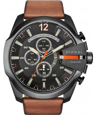 Diesel DZ4343 Mens Mega jefe negro reloj cronógrafo bronceado