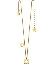 Orla Kiely N4040 Señoras de la libra esterlina de oro plateado collar de flores de cuatro puntas