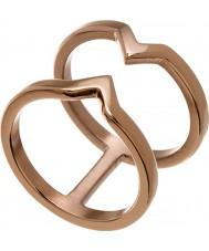 Edblad 116130176-S Señoras de la victoria de rosa plateó el anillo - tamaño n (s)