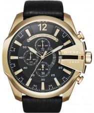 Diesel DZ4344 Mens Mega jefe de reloj cronógrafo de oro negro