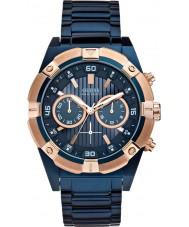 Guess W0377G4 sacudida para hombre azul de acero reloj cronógrafo