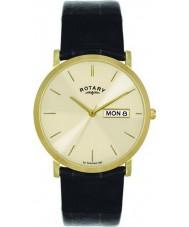 Rotary GS02624-03-DD Para hombre chapado en oro reloj de champán