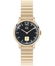 Orla Kiely OK4008 Señoras de la marina de guerra Frankie Hamilton oro reloj plateado