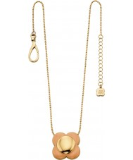 Orla Kiely N4023 Señoras de la margarita de 18 quilates de oro cadena de rubor flor colgante, collar