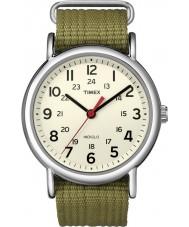 Timex T2N651 Mens de fin de semana de oliva natural de deslizarse a través de reloj