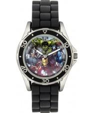 Disney AVG3529 chicos de Marvel reloj con correa de silicona negro
