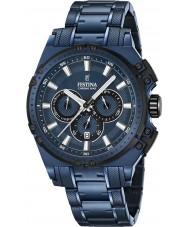 Festina F16973-1 Para hombre en bicicleta crono azul acero reloj cronógrafo