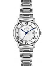 Rotary LB90140-07 Damas les originales carviano reloj de acero de plata